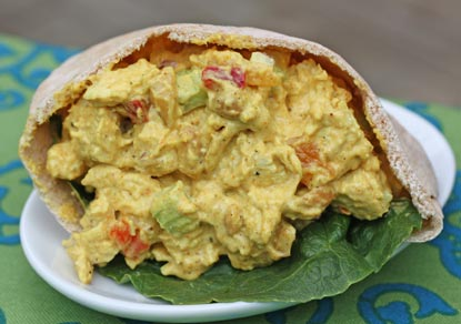spicy curried curried chicken salad with curry chicken salad boats 1 ...