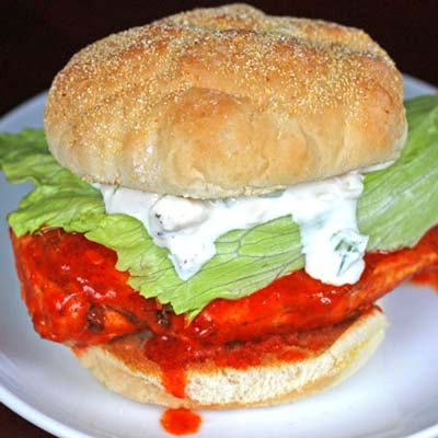 Inspired2cook.com » Hot Buffalo Chicken Sandwiches