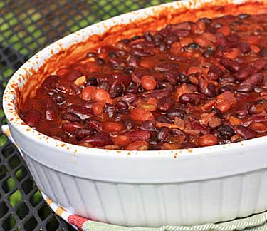 Inspired2cook.com » Hot and Smoky Baked Beans