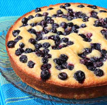 Inspired2cook.com » Blueberry-Lemon Cornmeal Cake