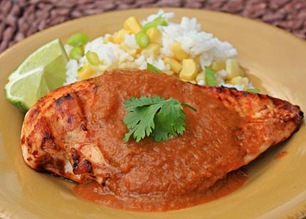 Inspired2cook.com » Grilled Chicken with Creamy Pumpkin ...