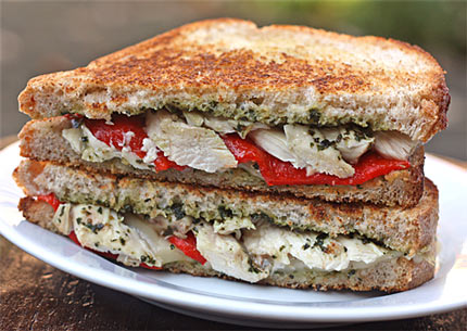 Grilled Chicken And Roasted Red Pepper Panini Recipes — Dishmaps