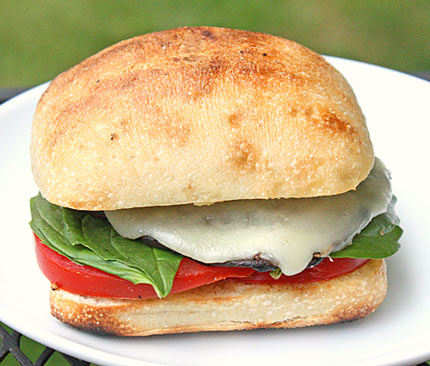 ... com » Grilled Portobella Sandwiches with Tomatoes, Mozzarella & Basil