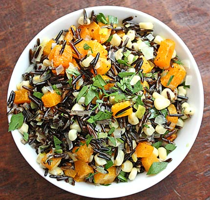Inspired2cook.com » Wild Rice with Butternut Squash, Leeks and Corn