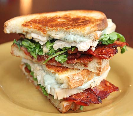 ... .com » Grilled Turkey, Bacon, Radicchio, and Blue Cheese Sandwiches