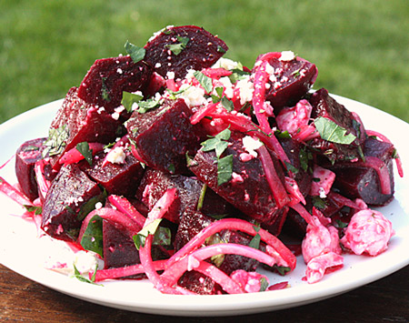 Roasted Beet Salad With Pickled Onions And Feta Recipes — Dishmaps